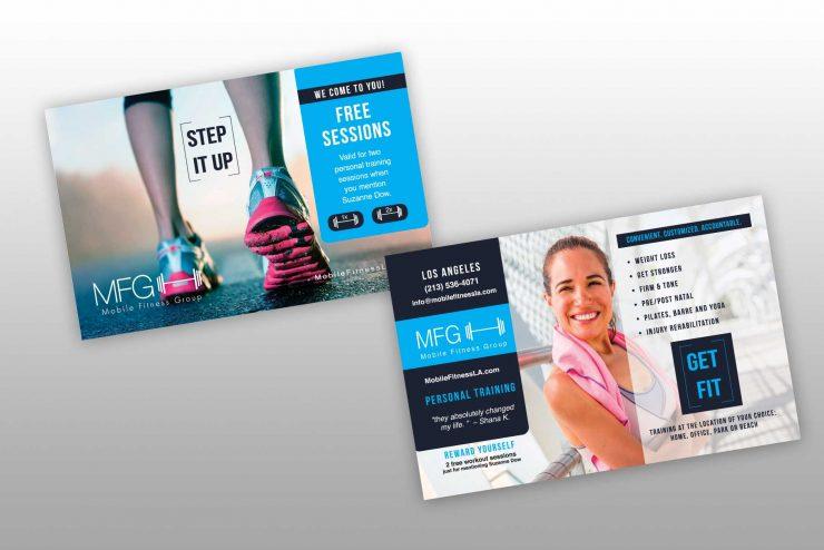 Mobile Fitness Postcard